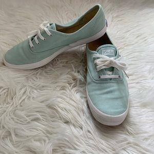 Keds Light Blue Lace Up Flat Shoe Size 9